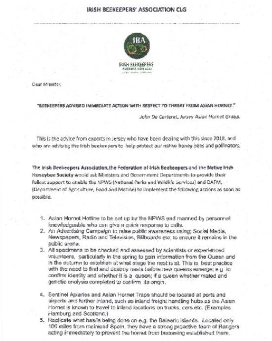 Minister Letter